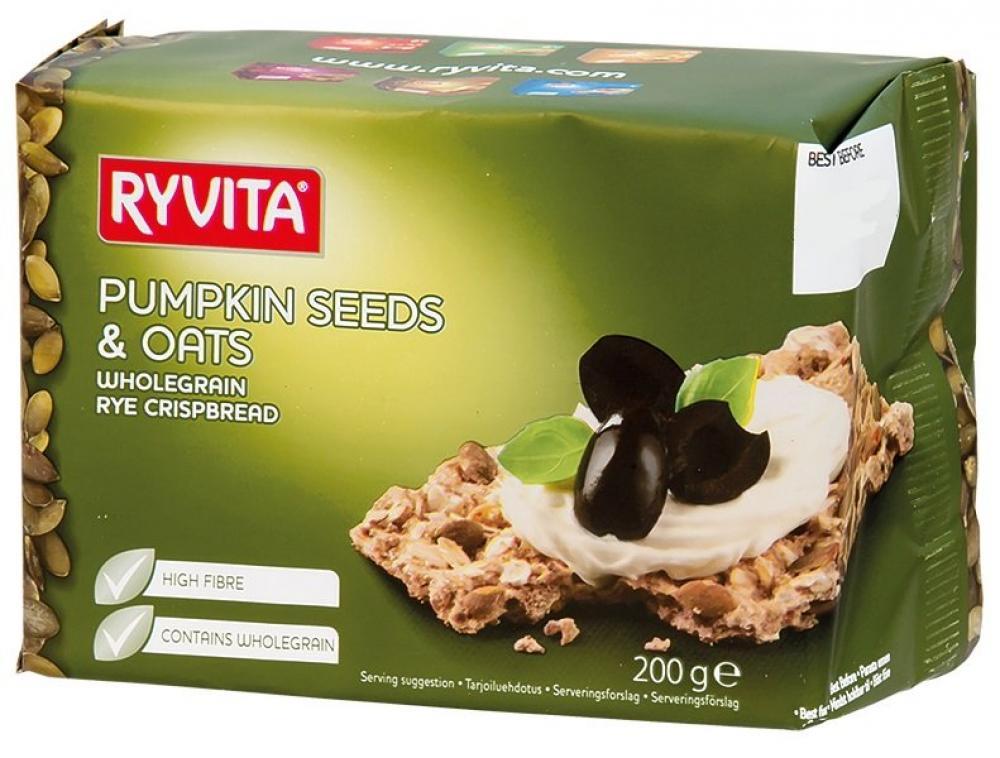 Ryvita Pumpkin Seeds and Oats Crispbread 200g