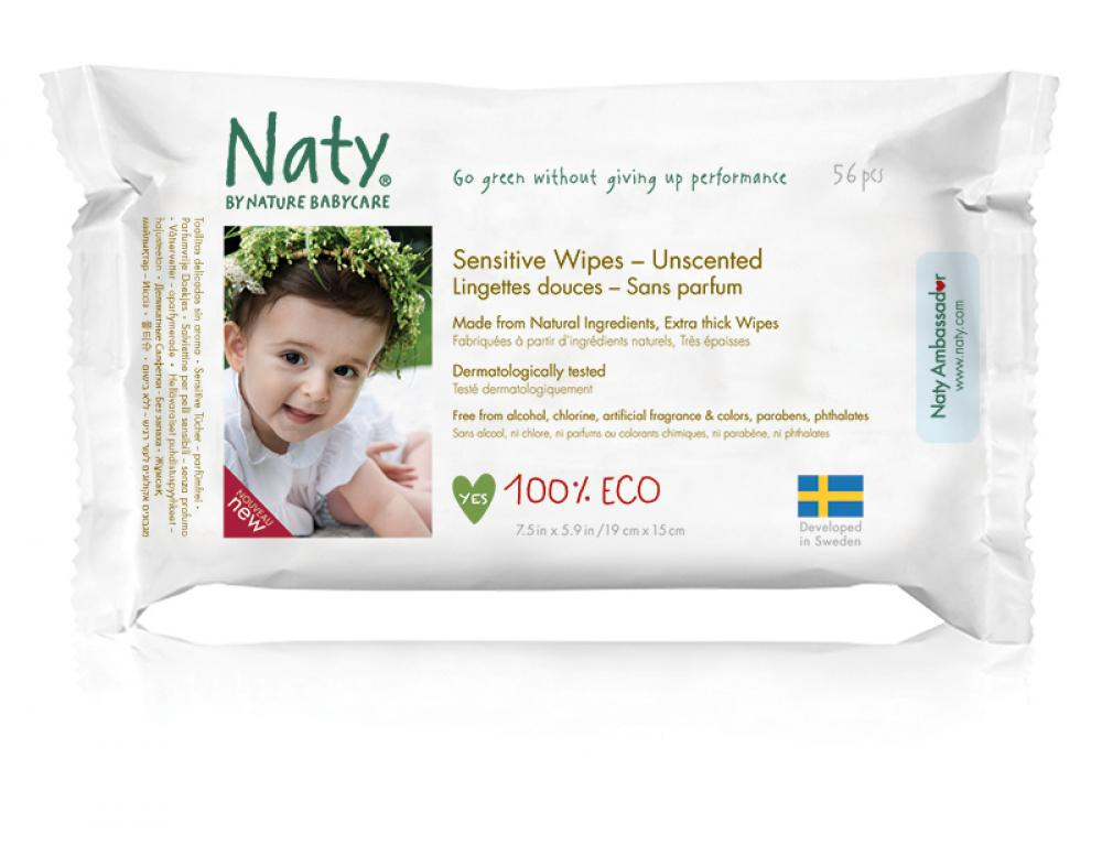 Naty By Nature Babycare 56 Unscented Wipes