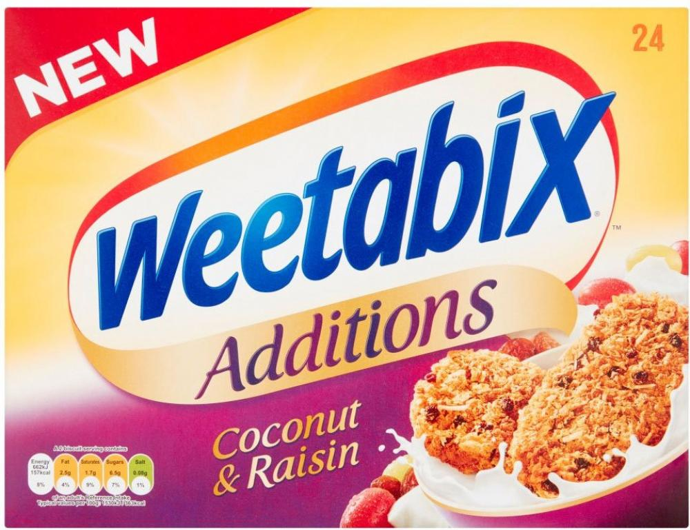 Weetabix Additions Coconut and Raisin 24 Pack