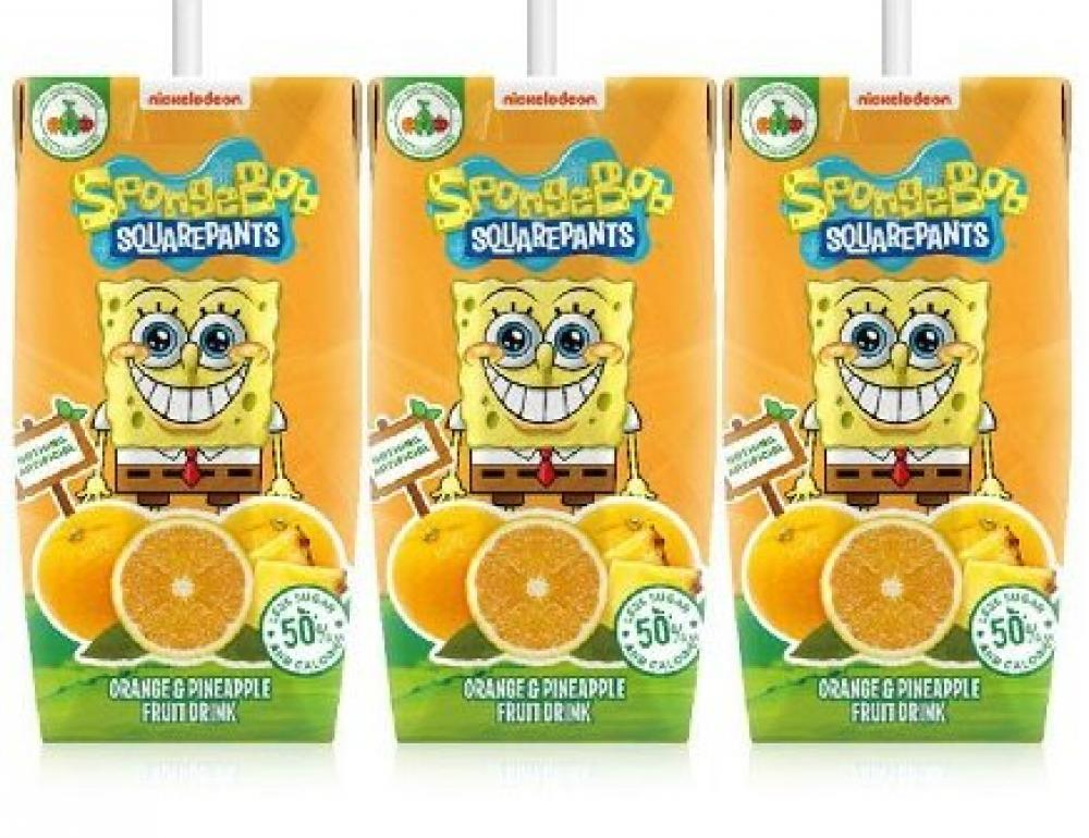 Appy Spongebob Orange and Pineapple Drink 200ml x 3