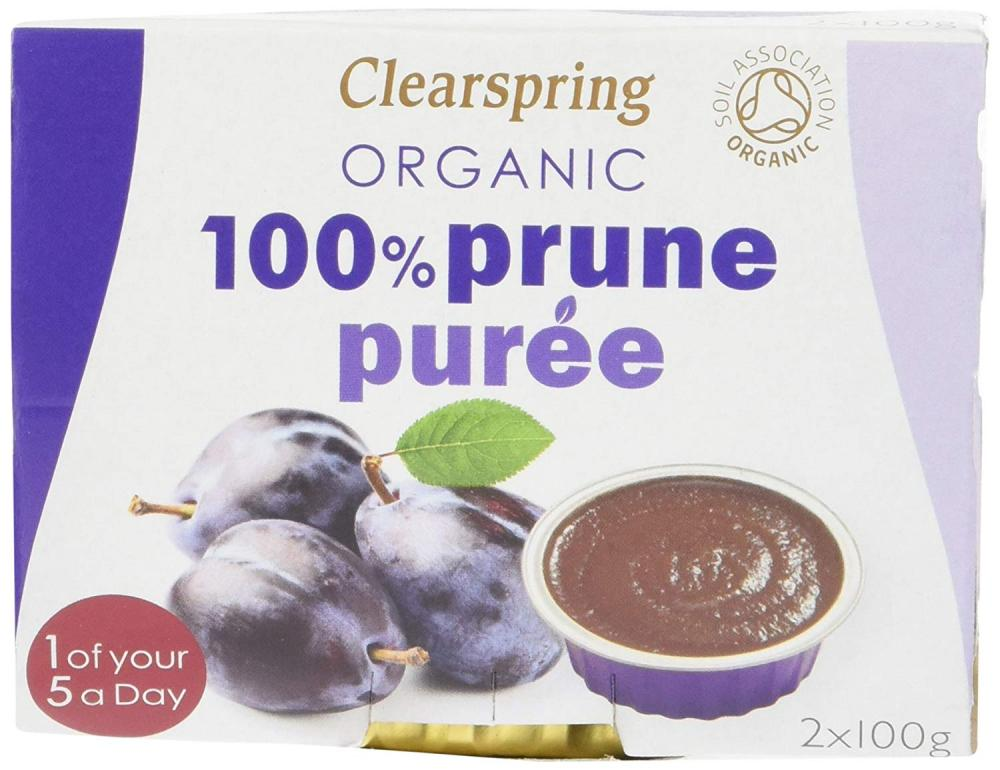 Clearspring Organic 100 Percent Fruit Prune Puree 2x100g