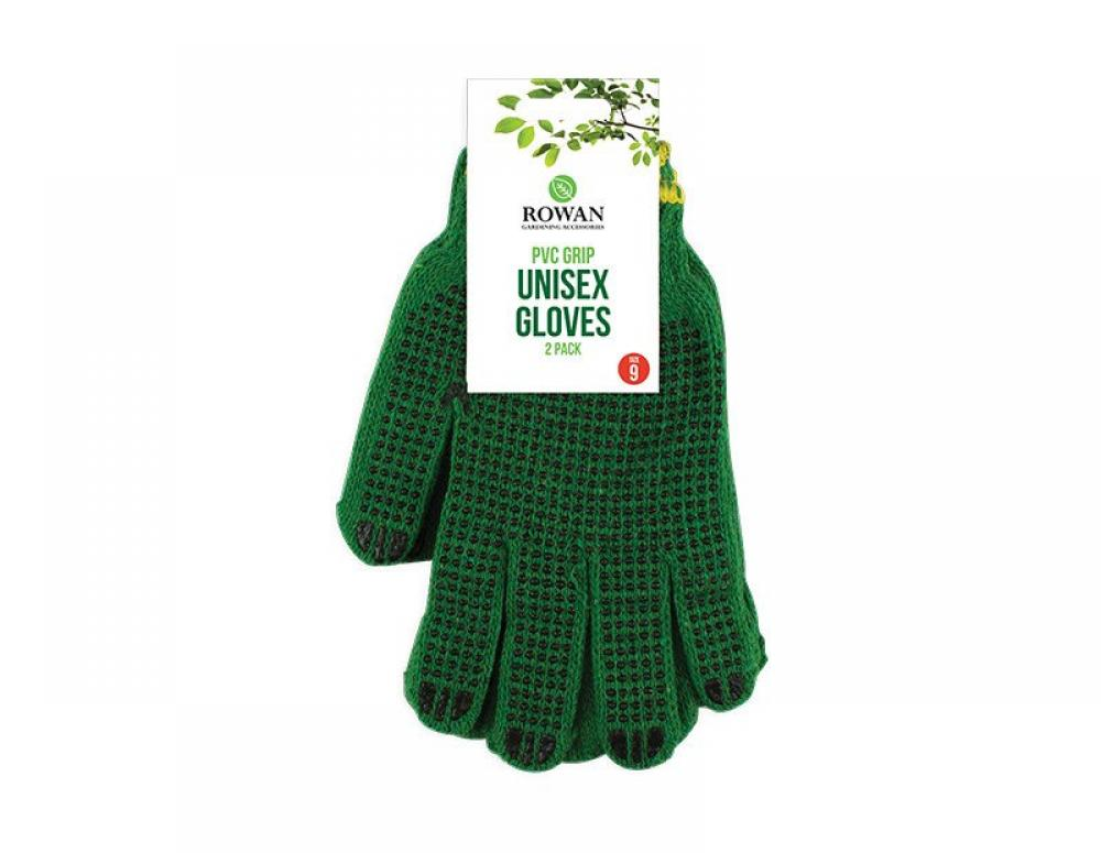 Rowan PVC Grip Unisex Gloves 2 pack