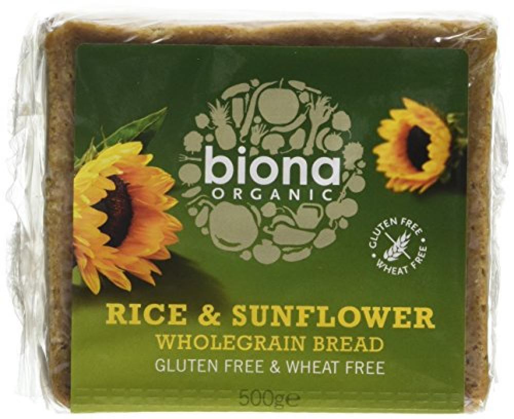 Biona Organic Rice Bread with Sunflower Seed 500 g