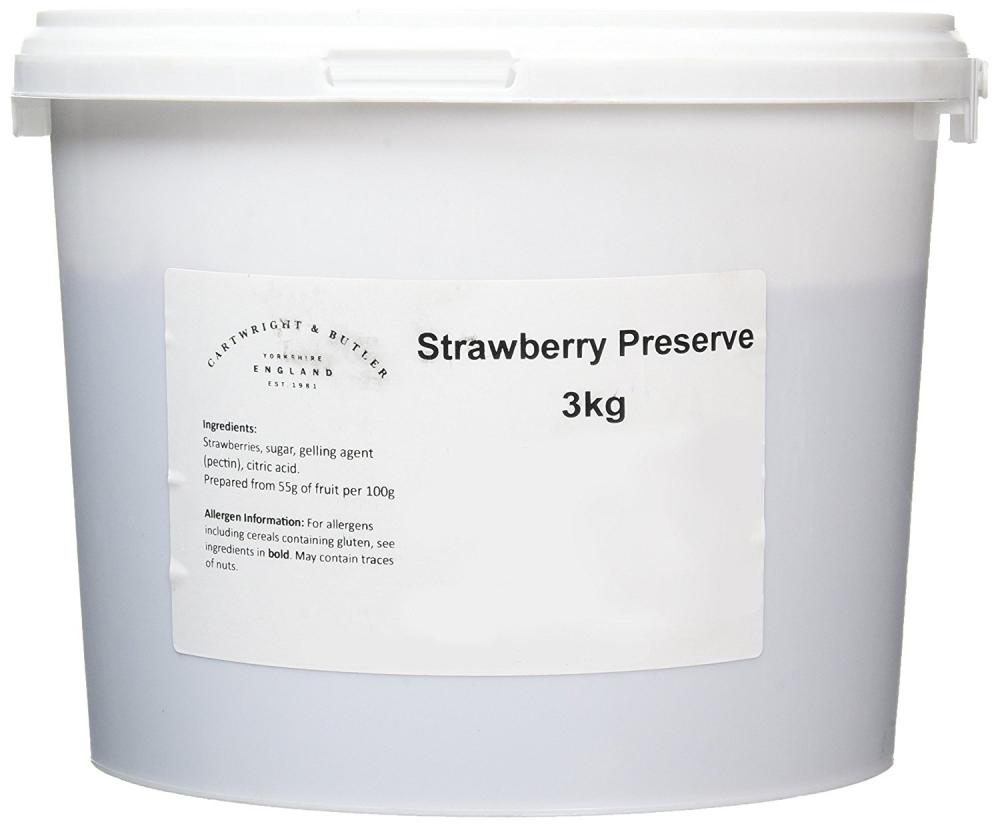 Cartwright and Butler Strawberry Preserve in Tub 3 kg