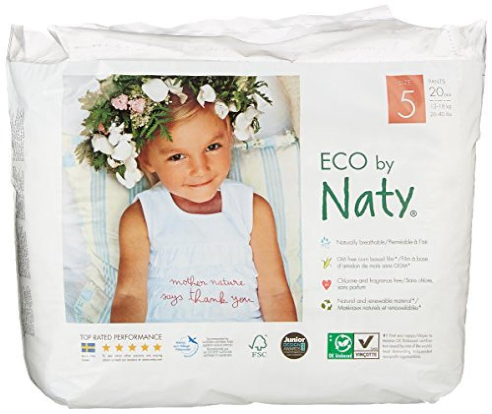Naty By Nature Babycare Size 5 ECO Pull On Pants Packs of 20