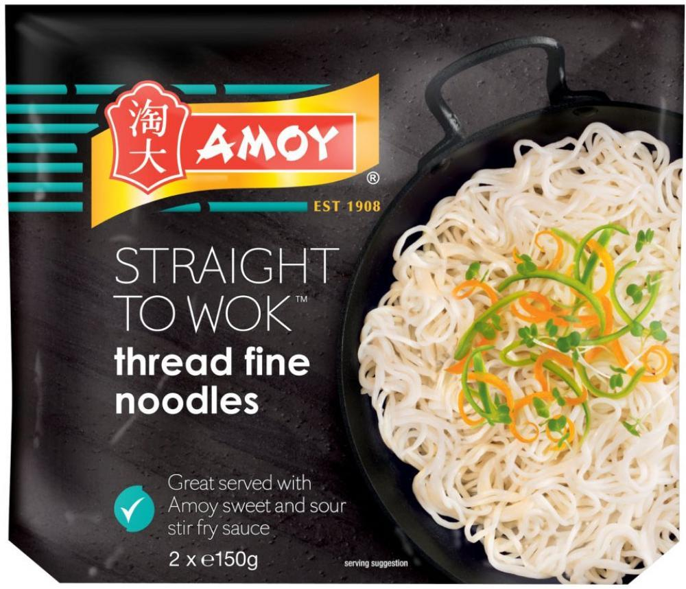 Amoy Straight To Wok Thread Fine Noodles 300g