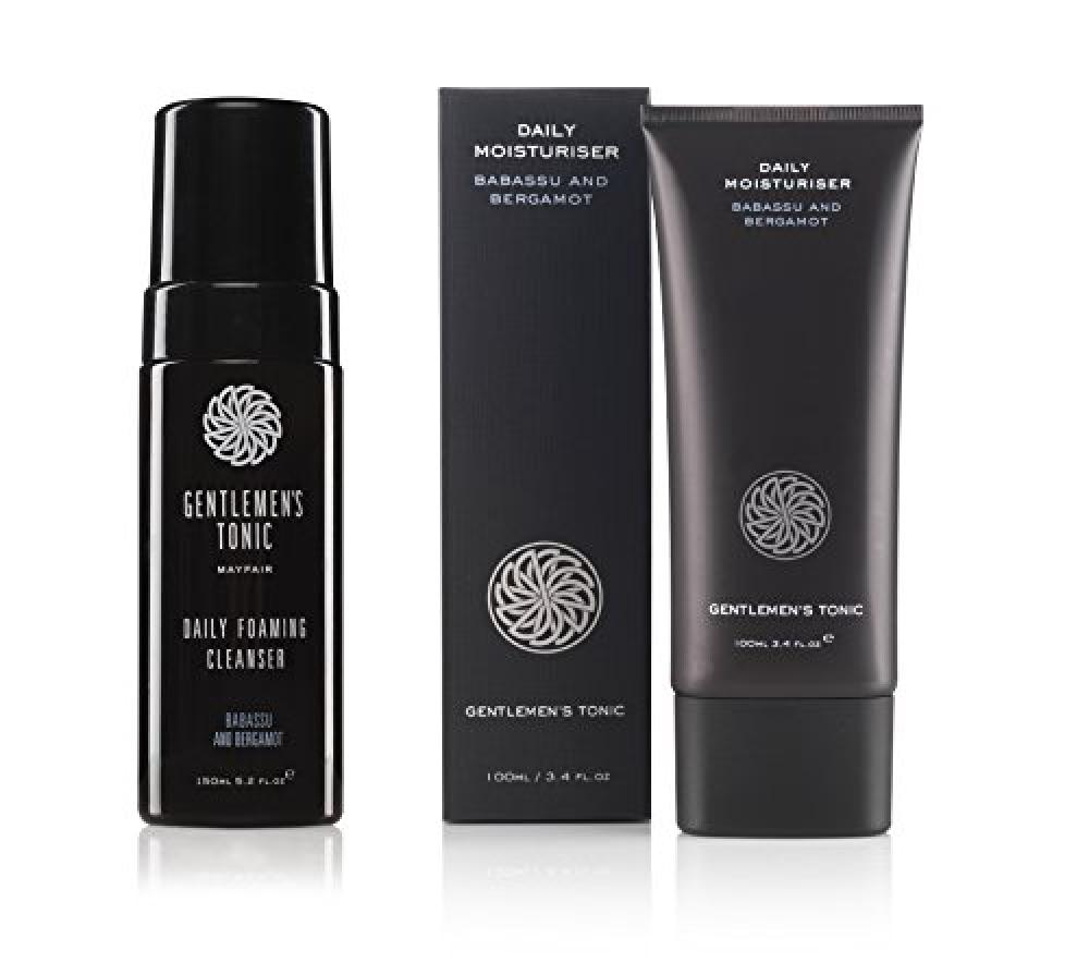Gentlemens Tonic Daily Foaming Cleanser 150 ml and Daily Moisturiser 100 ml Duo Set