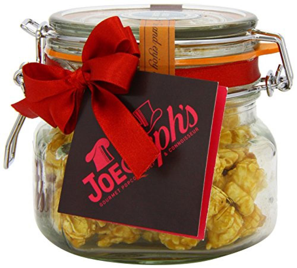 Joe and Sephs Popcorn Kilner Jar of Salted Caramel Popcorn 80g