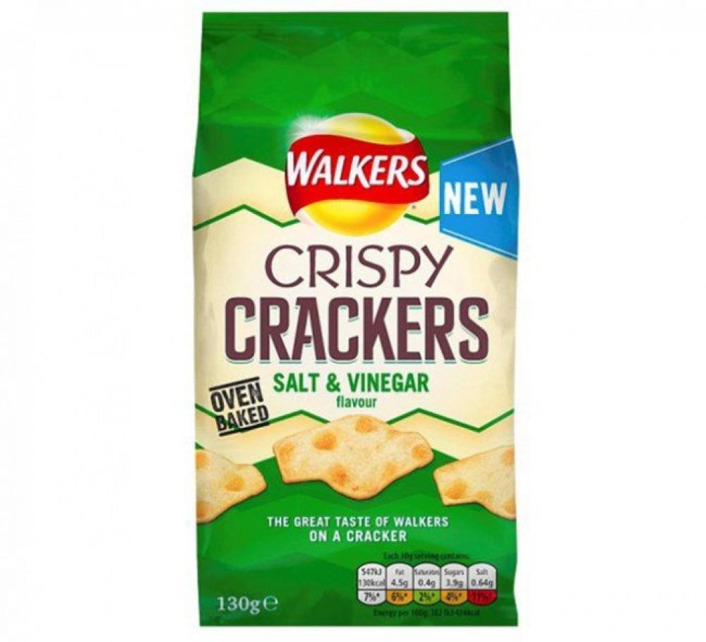 Walkers Crispy Crackers Salt and Vinegar Flavour 130g