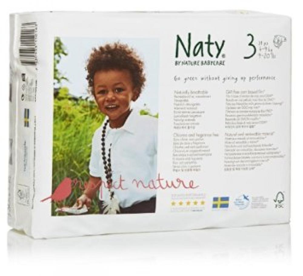 Naty By Nature Babycare ECO Nappies Size 3 Pack Of 31