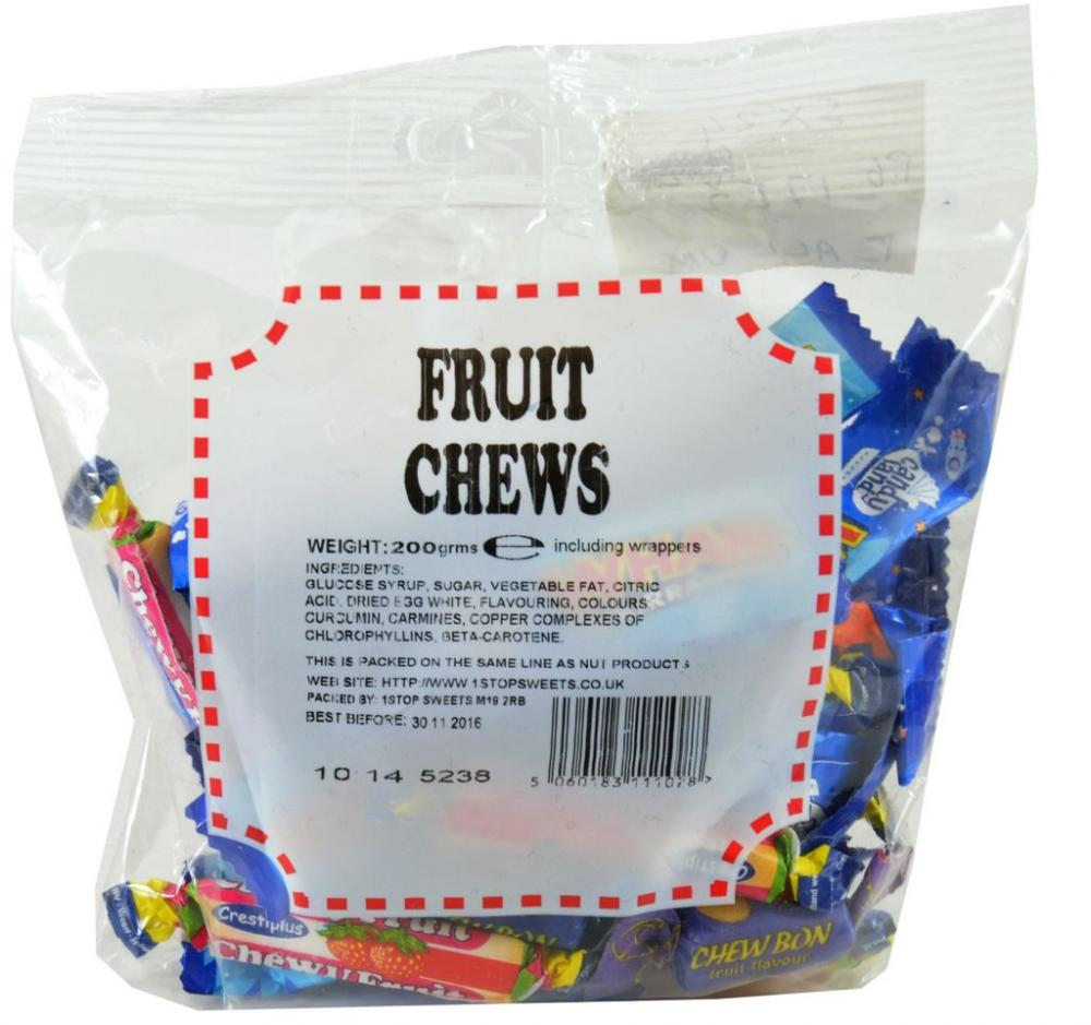 De Identified Fruit Chews 200g
