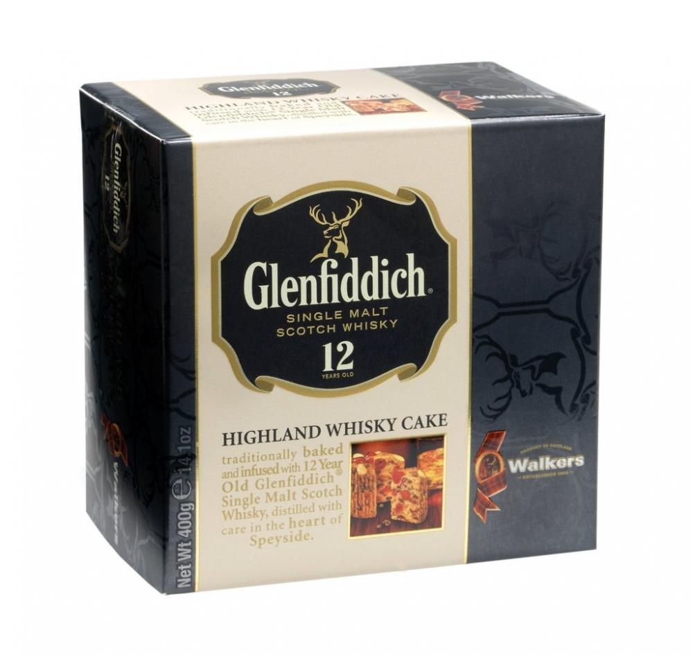 Walkers Of Scotland Glenfiddich Highland Whisky Cake 400 g