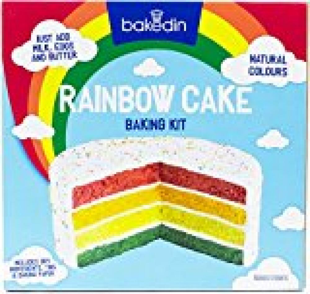 Bakedin Rainbow Cake Baking Kit 1kg