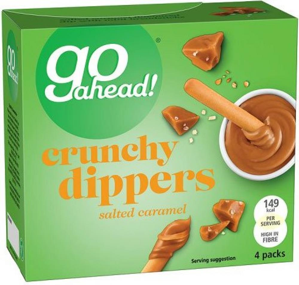 Go Ahead Crunchy Dippers Salted Caramel 30g x 4