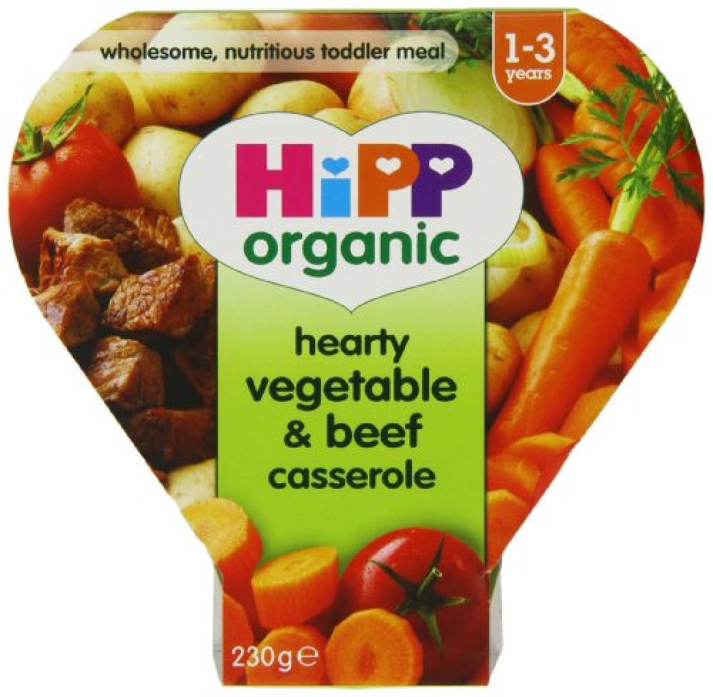 HiPP Organic Hearty Vegetable and Beef Casserole Tray Meal 230g