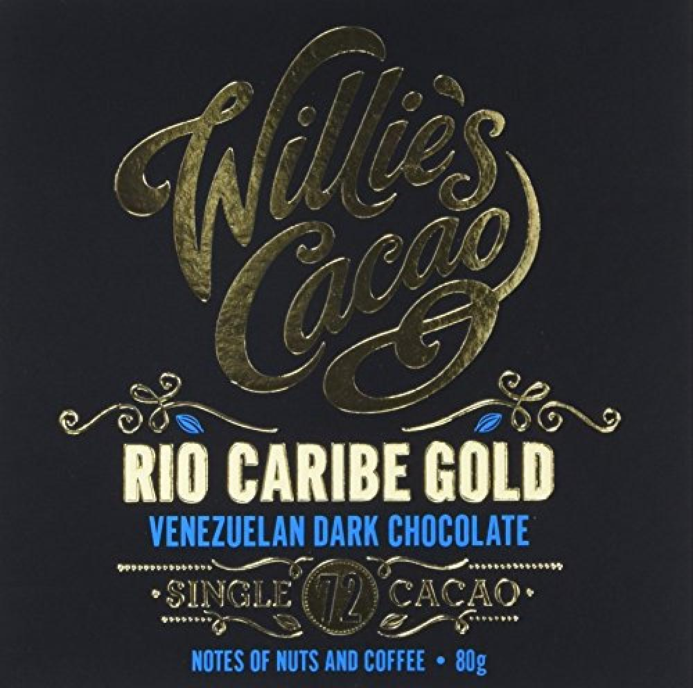 Willies Cacao Venezuelan Dark Chocolate Rio Caribe Gold 80g