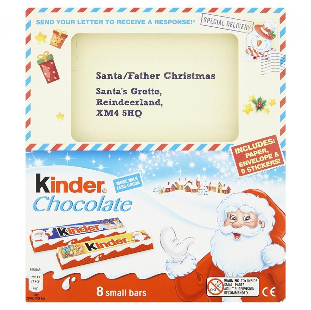 Kinder Seasonal Chocolate and Letter To Santa Reply 100g