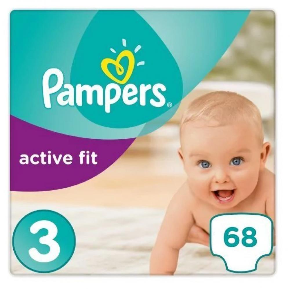 Pampers Premium Protection Active Fit Size 3 Pack of 68