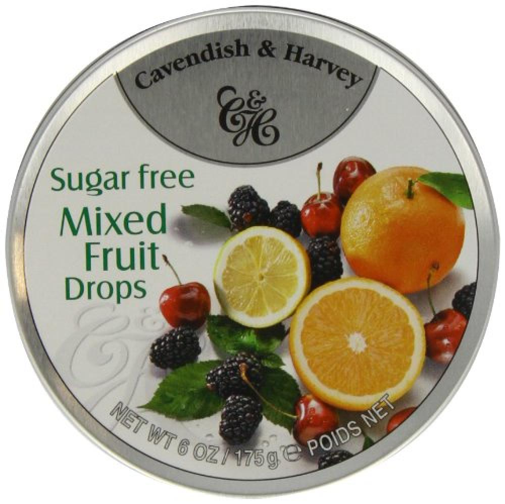 Cavendish and Harvey Sugar Free Mixed Fruit Drops 175g