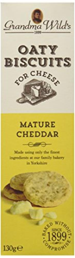 Grandma Wilds Oaty Biscuits Mature Cheddar 130g