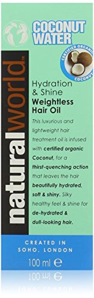 Natural World Coconut Water Hydration and Shine Weightless Hair Oil 100ml