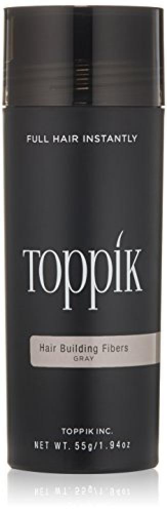 TOPPIK Hair Building Fibers Grey 55 g