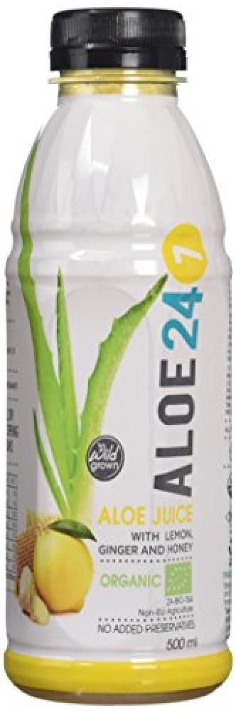 Aloe 24-7 Organic Lemon Ginger and Honey Aloe Juice 500ml
