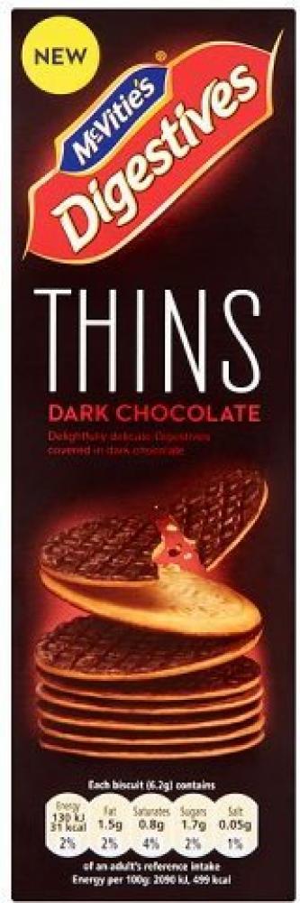 McVities Digestives Dark Chocolate Thins 180g