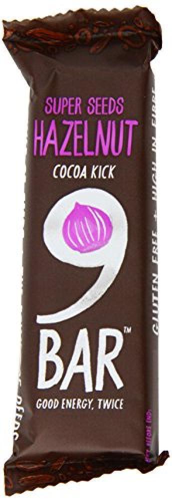 9Bar Cocoa Kick Hazelnut Bars 40g