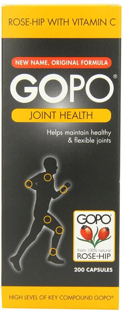 Gopo Rose Hip Joint Health Vitamin C Capsules 200 Pack