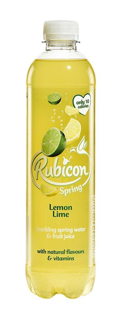 Rubicon Lemon Lime Sparkling Spring Water 500ml