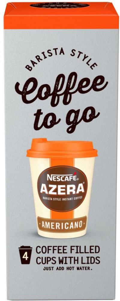 Nescafe Azera Coffee to Go Americano 4 Filled Cups with Lid