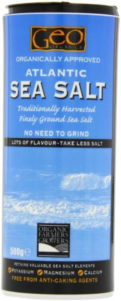 Geo Organics Atlantic Fine Ground Sea Salt 500 g