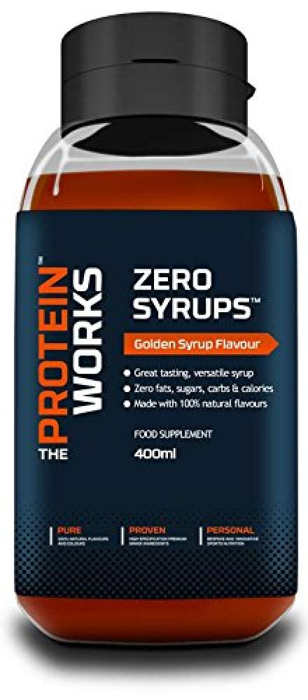 The Protein Works Zero Syrups Zero Calorie Zero Sugar Zero Fat Syrups Golden Syrup - 400 ml