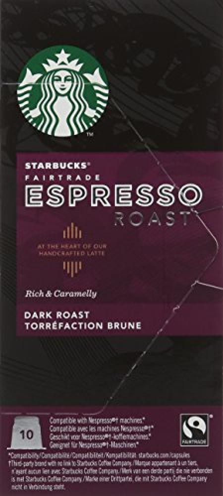 Starbucks Fairtrade Espresso Roast Capsules Dark Roast 10 Capsules 55g