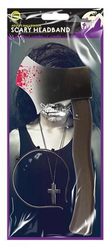Halloween Scary Headband Axe