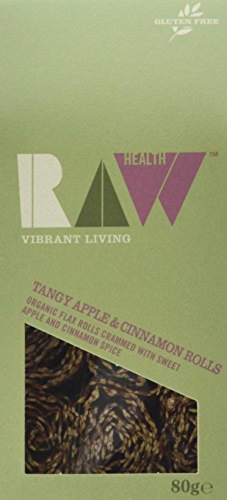 Raw Health Organic Tangy Apple and Cinnamon Rolls 80 g