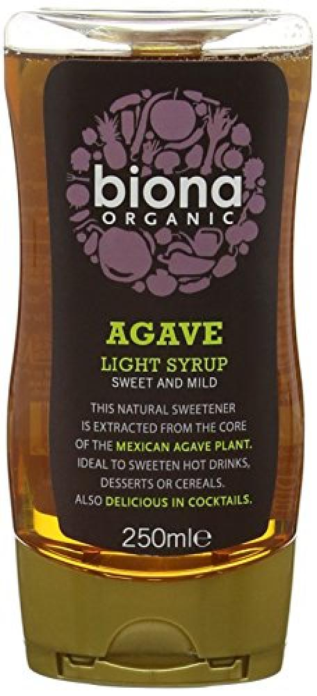 Biona Organic Squeezy Agave Syrup Light 250ml