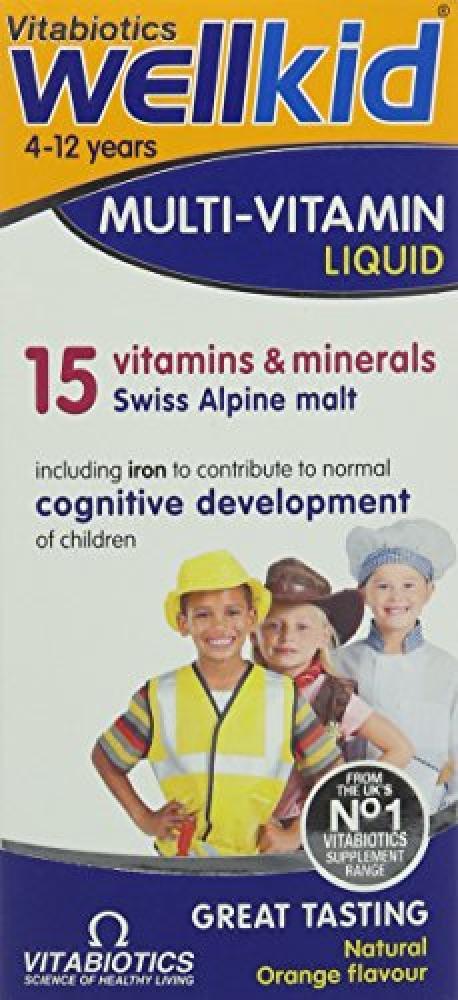 Vitabiotics 150 ml Wellkid Multivitamin Liquid