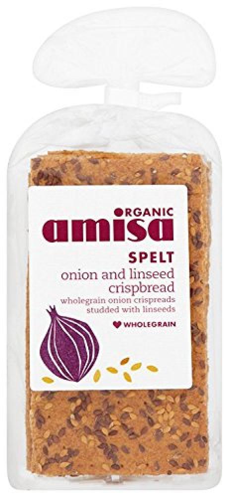 Amisa Organic Spelt Onion and Linseed Crispbread 200g