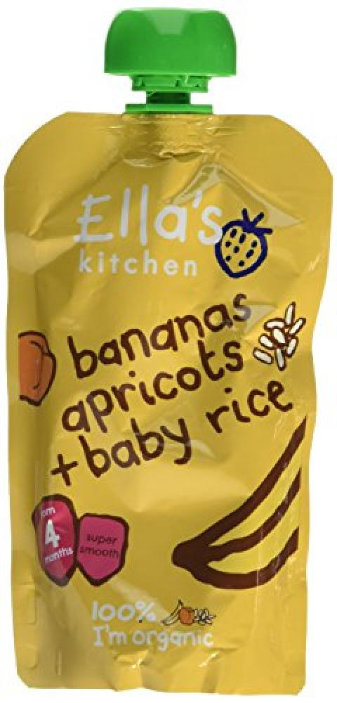 Ellas Kitchen Stage 1 From 4 Months Organic Banana and Apricot Baby Rice