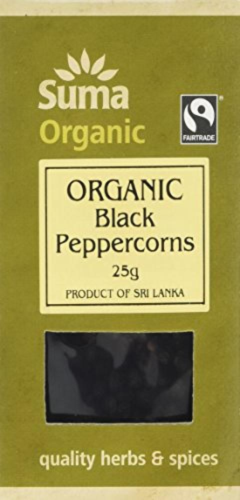 Suma Black Peppercorns Organic 25g