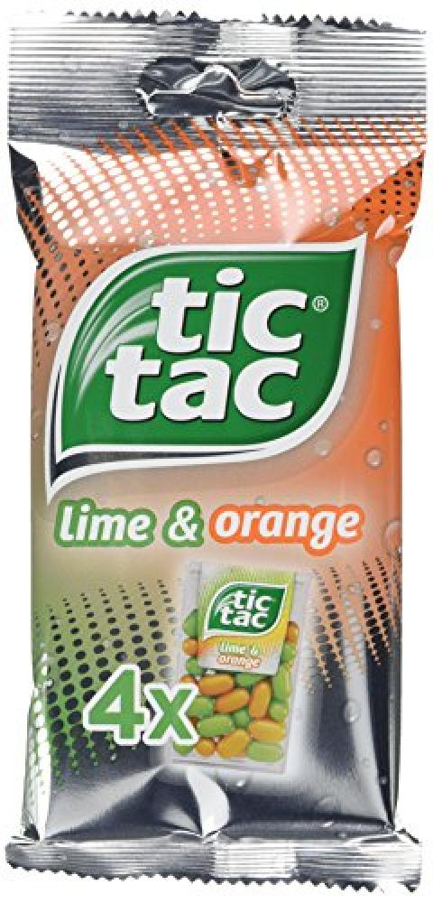Tic Tac Lime and Orange Refreshing Sweets 4x16g