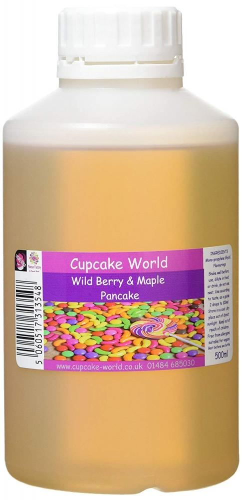 Cupcake World Intense Food Flavouring Wild Berry and Maple Pancake 500 ml