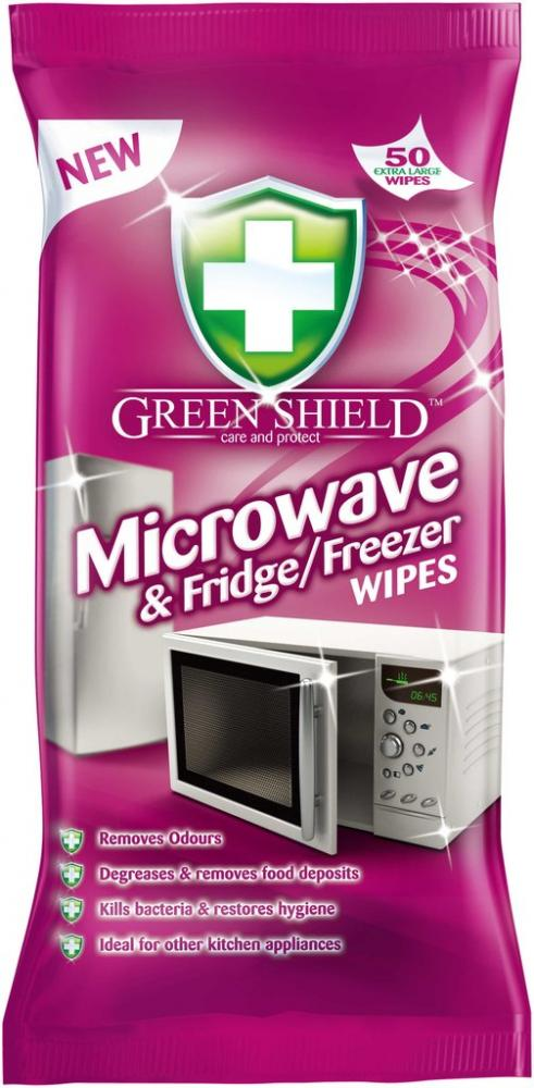 Green Shield Microwave and Fridge Freezer Surface Wipes pack of 50