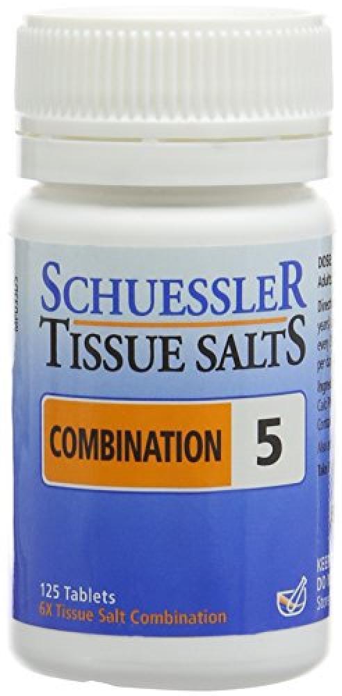 Schuessler Combination 5 Tissue Salt Tablets - Pack of 125