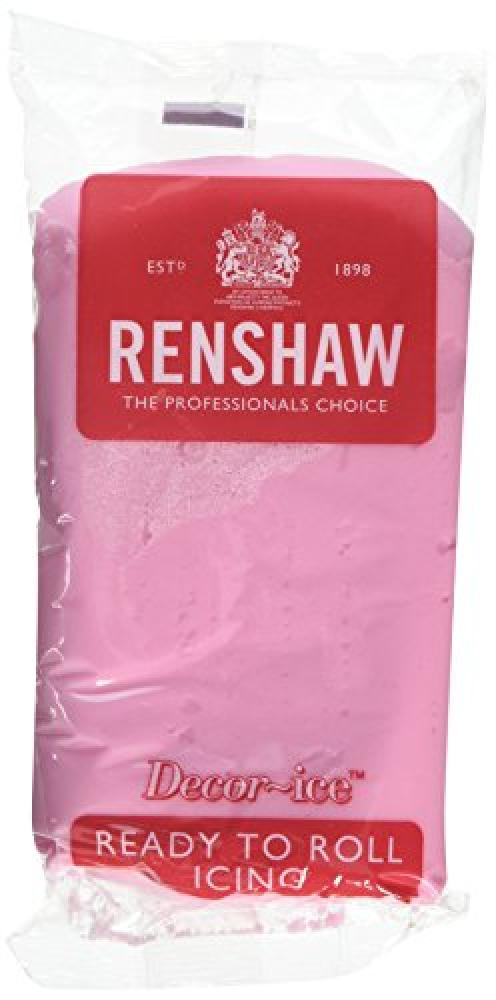 Renshaw Edible Pink Ready to Roll Icing 500g