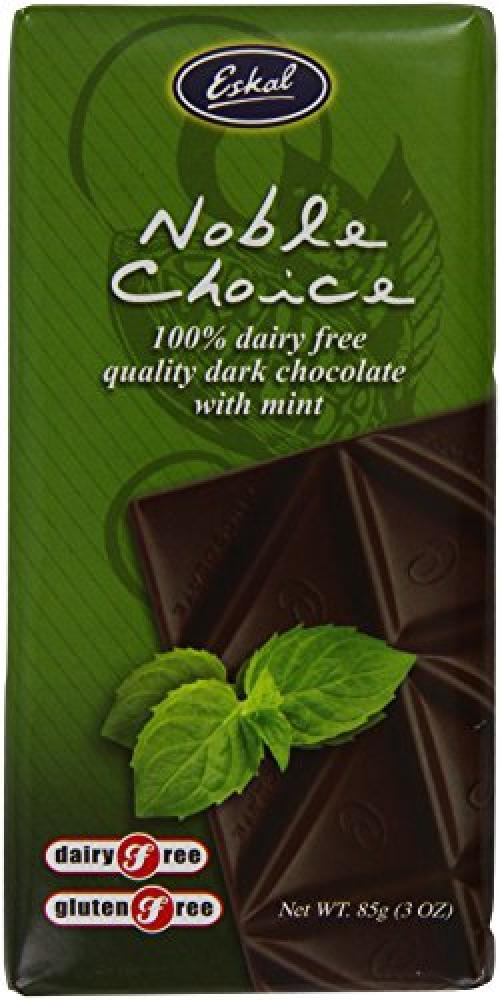 Eskal Gluten Free Dairy Free Noble Choice Chocolate Bar Mint 85 g