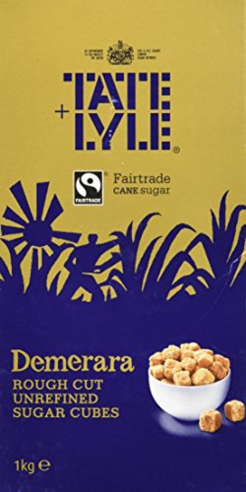 Tate and Lyle Demerara Rough Cut Unrefined Sugar Cubes 1 kg