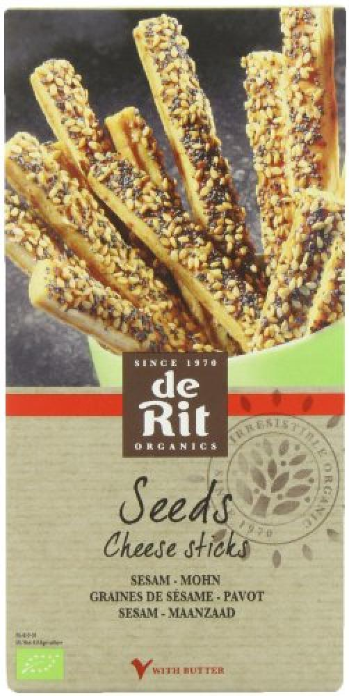 De Rit Organic Goat Cheese Sticks Sesame 100 g